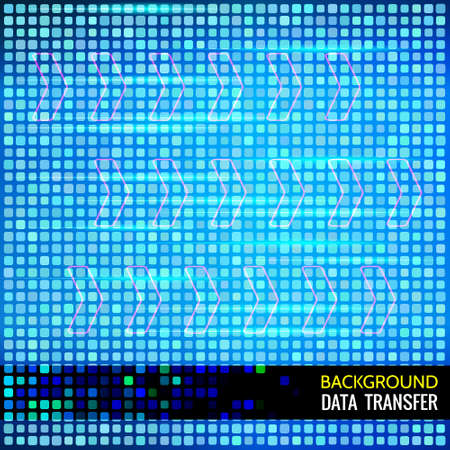 overload: Abstract  background for data themes. Data transfer. Big light arrows on cyber color background. Beam of light for motion effects. Design element for cyber, computer, science themes. Illustration