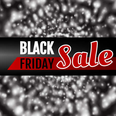 sell out: Black Friday abstract  illustration. Banner, flyer, art work design element.