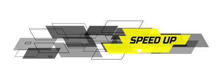 speed: speed up design concept Illustration