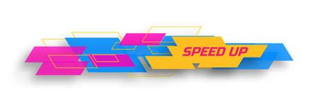 speed: Speed up design concep Illustration