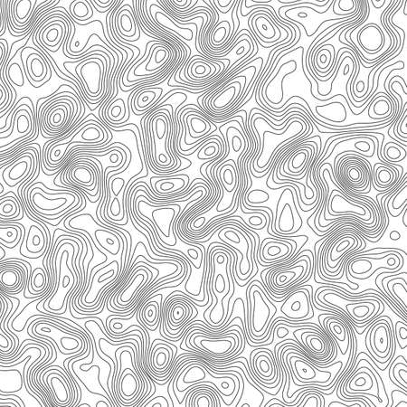 Vector design element. Abstract topography contour map. Ilustração