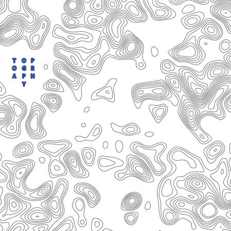Vector design element. Abstract topography contour map.