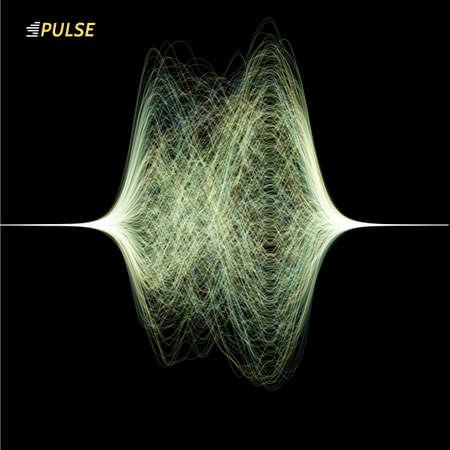 abstract vector signal wave Stock Illustratie
