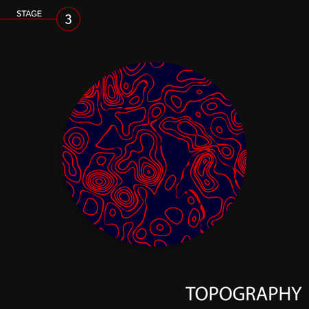 vector topography map Illustration