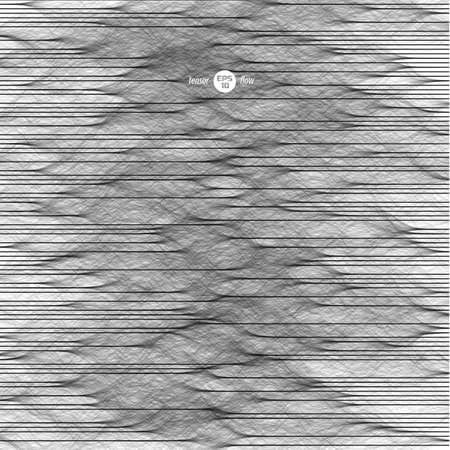 Modelling of signal. Vector illustration for technology or electronic music cover design. Generative art. Ilustração