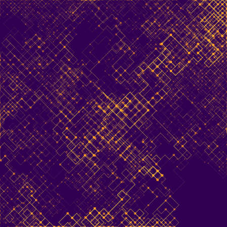 Abstract composition of fading lines and dots. Stranger walker modeling. Generative art.