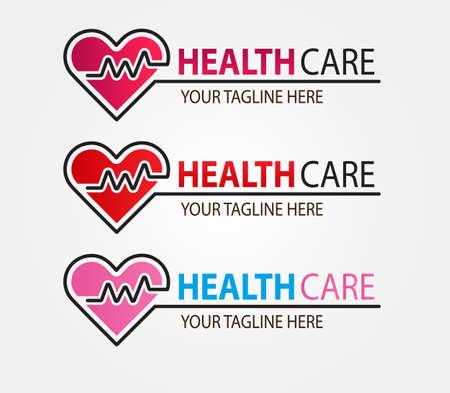 Heart pulse, one line creative logo. Heart care vector logotype illustration. Cardiology health care center, clinic logo.