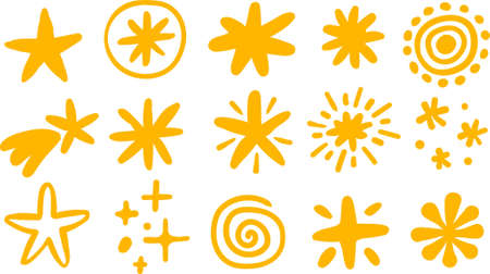 stars and comets icons set