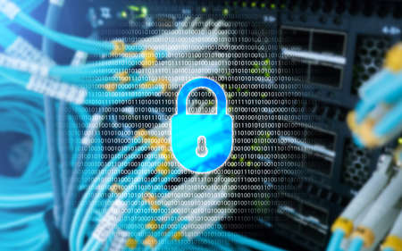 Cyber security, data protection, information privacy. Internet and technology concept. Stock Photo