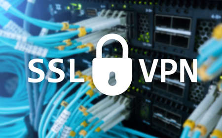 SSL VPN. Virtual private network. Encrypted connection. 版權商用圖片