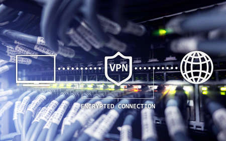 Virtual private network, VPN, Data encryption, IP substitute. 스톡 콘텐츠