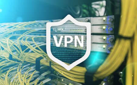 VPN, virtual private network technology, proxy and ssl, cyber security. Standard-Bild - 103398894