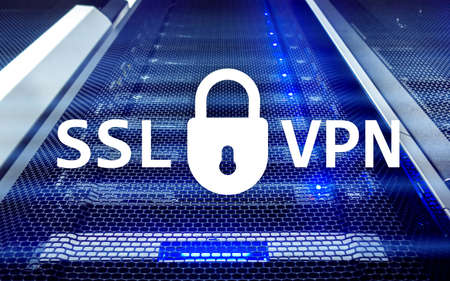SSL VPN. Virtual private network. Encrypted connection.