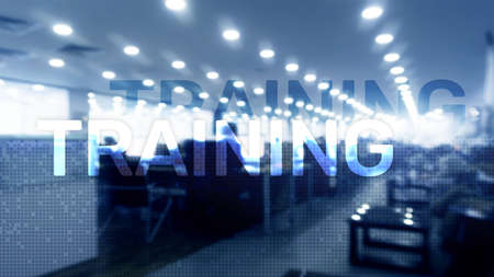 Training. Personal development. Business and education, E-Learning concept.