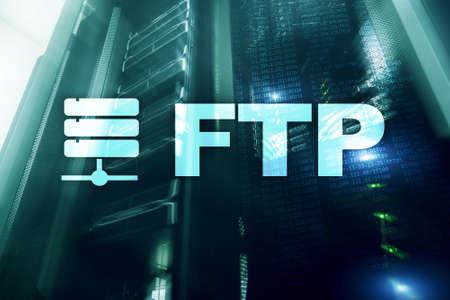 FTP - File transfer protocol. Internet and communication technology concept. Reklamní fotografie