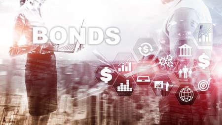 Bond Finance Banking Technology Business concept. Electronic Online Trade Market Network.