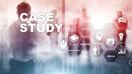 Casestudy. Business, internet en technologie concept.