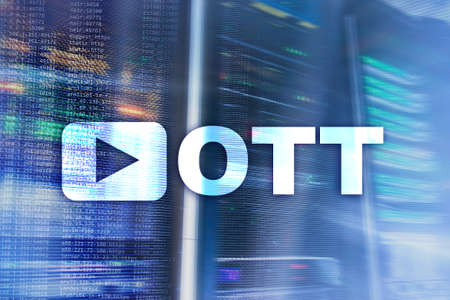 OTT, IPTV, video streaming over the internet. 免版税图像