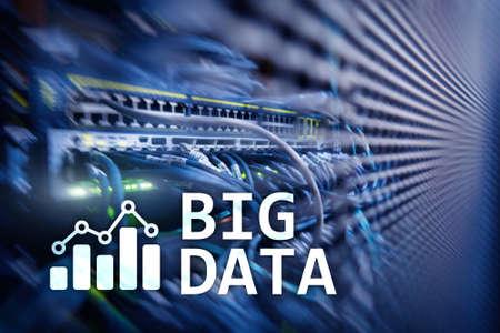 Big data analysing server. Internet and technology