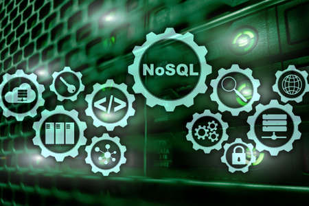 NoSQL. Structured Query Language. Database Technology Concept. Server room background. Stockfoto - 118542880