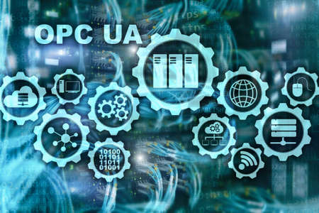OPC Unified Architecture. Data Transmission in Industrial Networks concept. 版權商用圖片