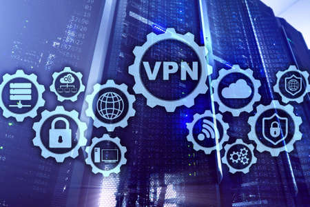 Secure VPN Connection. Virtual Private Network or Internet Security Concept.