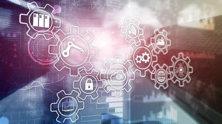 Technology innovation and process automation. Smart industry 4.0. Stock fotó