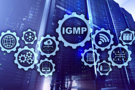 IGMP. Internet Group Management Protocol concept. Communications Technology. 写真素材 - 120065317