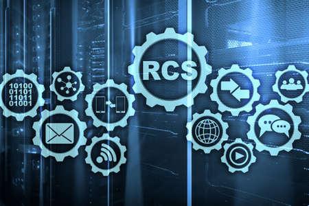 RCS. Rich Communication Services. Ñommunication Protocol. Technology concept.