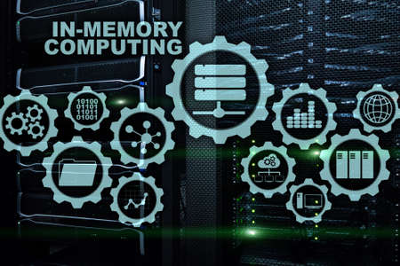 In-Memory Computing. Technology Calculations Concept. High-Performance Analytic Appliance Stock Photo