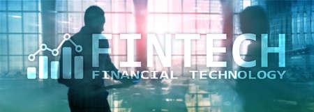FINTECH - Financial technology, global business and information Internet communication technology. Business banner website header