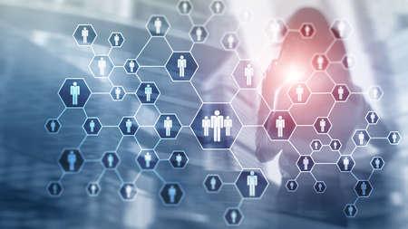 HR, Human Resources, Recruitment, Organisation structure and social network concept. Reklamní fotografie