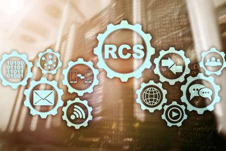 RCS. Rich Communication Services. Communication Protocol. Technology concept.