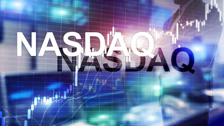National Association of Securities Dealers Automated Quotation. NASDAQ. Archivio Fotografico