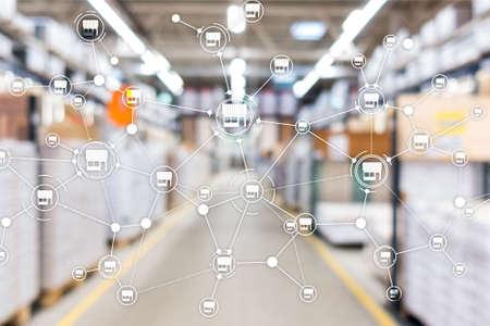 Franchise Distribution network Shop Retail Business Financial concept. Blurred supermarket background. Reklamní fotografie