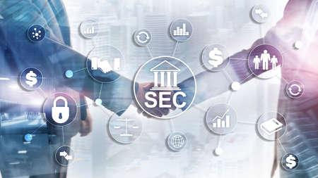 Comité d'échange de sécurité SEC. Agence indépendante du gouvernement fédéral des États-Unis.