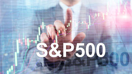 American stock market index S P 500 - SPX. Financial Trading Business concept