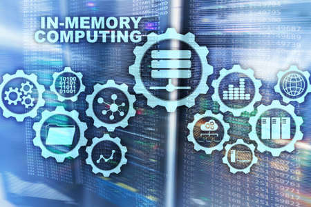 In-Memory Computing. Technology Calculations Concept. High-Performance Analytic Appliance.