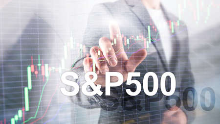 American stock market index S P 500 - SPX. Financial Trading Business concept. Stockfoto