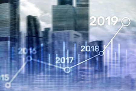 2019 Plan for Financial growth. Business and investment concept Imagens