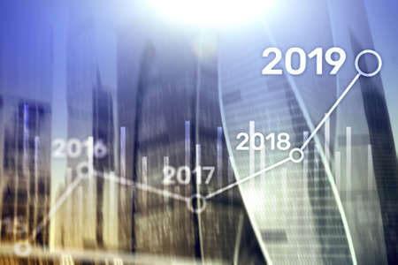 2019 Plan for Financial growth. Business and investment concept.