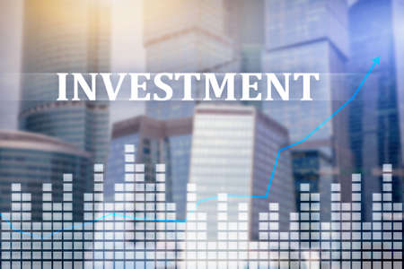 Investment, ROI financial market concept Stock Photo