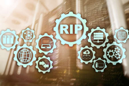 RIP Routing Information Protocol. Technology networks cocept Stock Photo