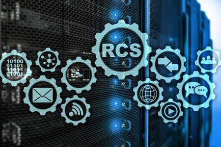 RCS. Rich Communication Services. ommunication Protocol. Technology concept