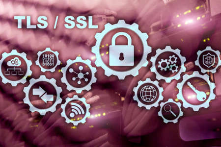 Transport Layer Security. Secure Socket Layer. TLS SSL. ryptographic protocols provide secured communications. Stock Photo