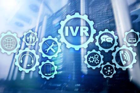 Réponse vocale interactive IVR. Concept d'entreprise de centre d'appels.