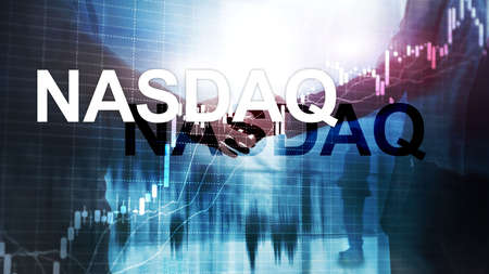 National Association of Securities Dealers Automated Quotation. NASDAQ. 版權商用圖片