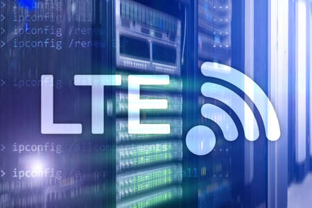 LTE, Wireless Business Internet and Virtual Reality Concept. Information Communication Technology on a server background Stock fotó