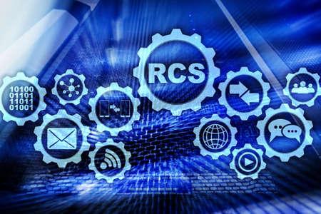 RCS. Rich Communication Services. ommunication Protocol. Technology concept. Stock fotó