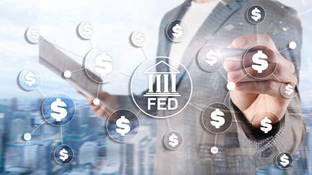 FED federal reserve system usa banking financial system business concept.
